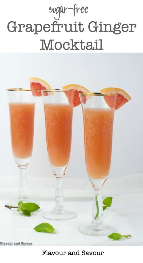 Sugar-Free Grapefruit Ginger Mocktail pin
