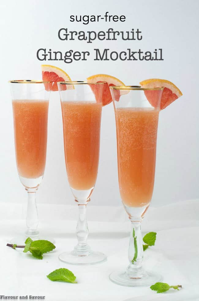 Sugar-Free Grapefruit Ginger Mocktail title