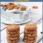 PInterest pin for Keto Peanut Butter Cookies