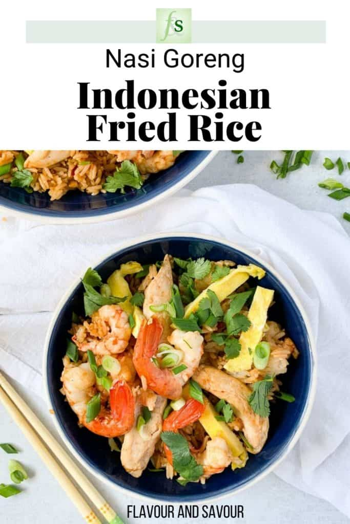 Image with text overlay for Nasi Goreng