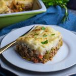 Shepherd's PIe with Mashed Cauliflower Crust
