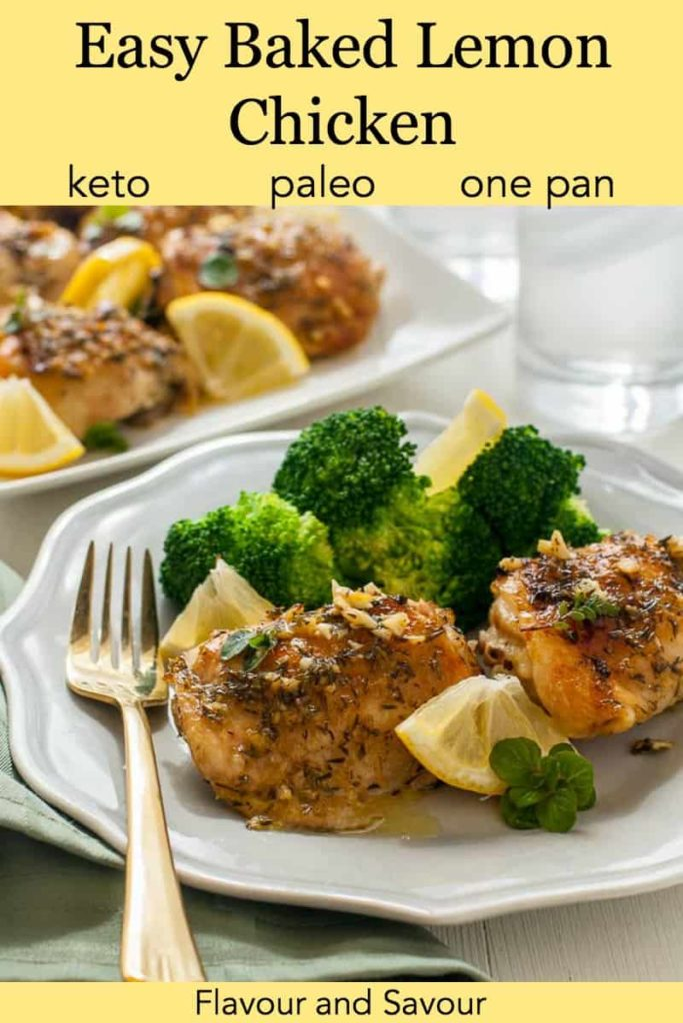 Keto Lemon Baked Chicken pinterest pin
