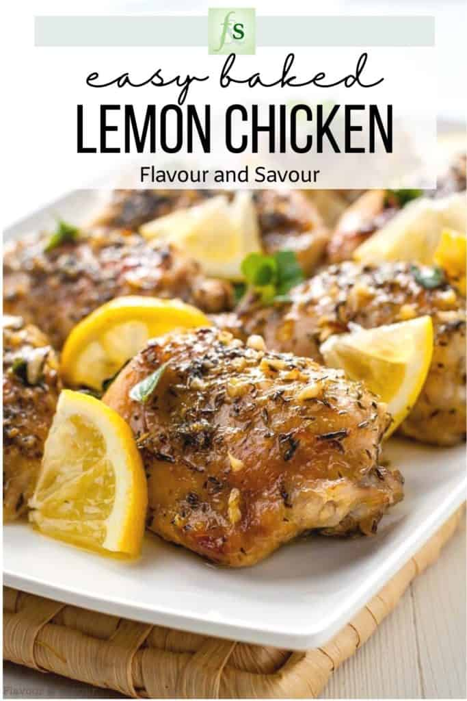 Image and text for Easy Baked Lemon Chicken