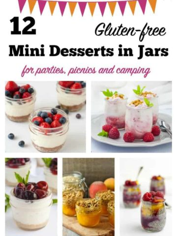 12 mini desserts in jars pin