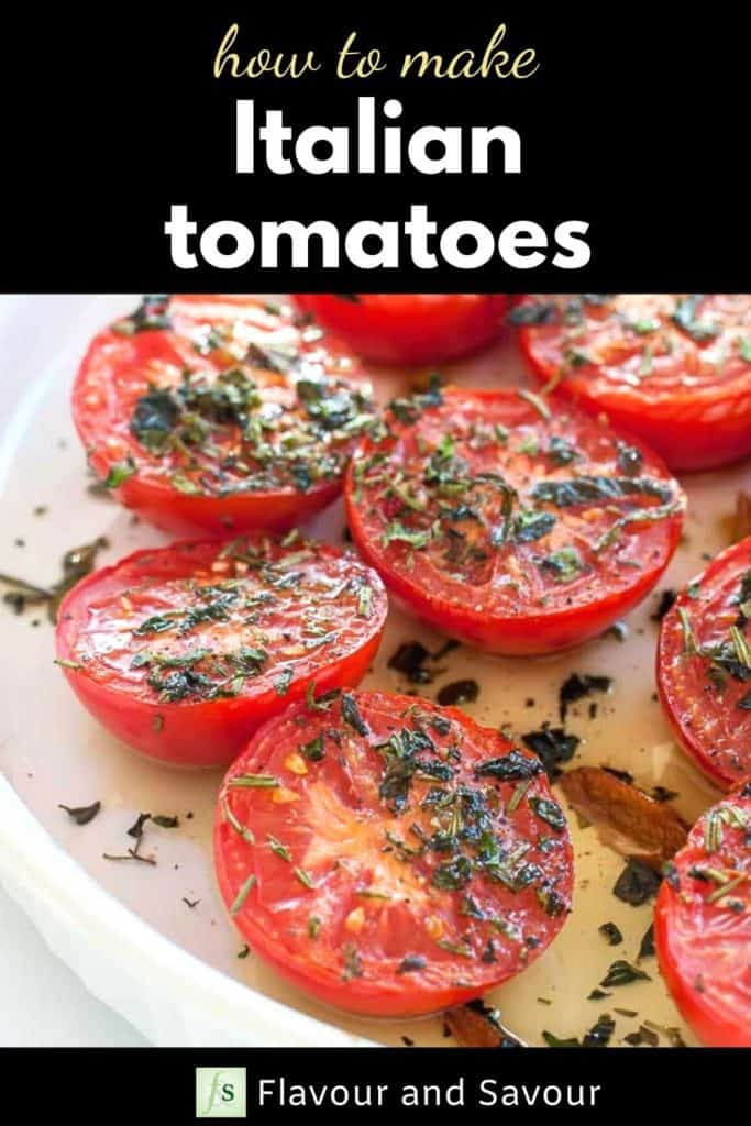 How to make Italian tomatoes with text overlay