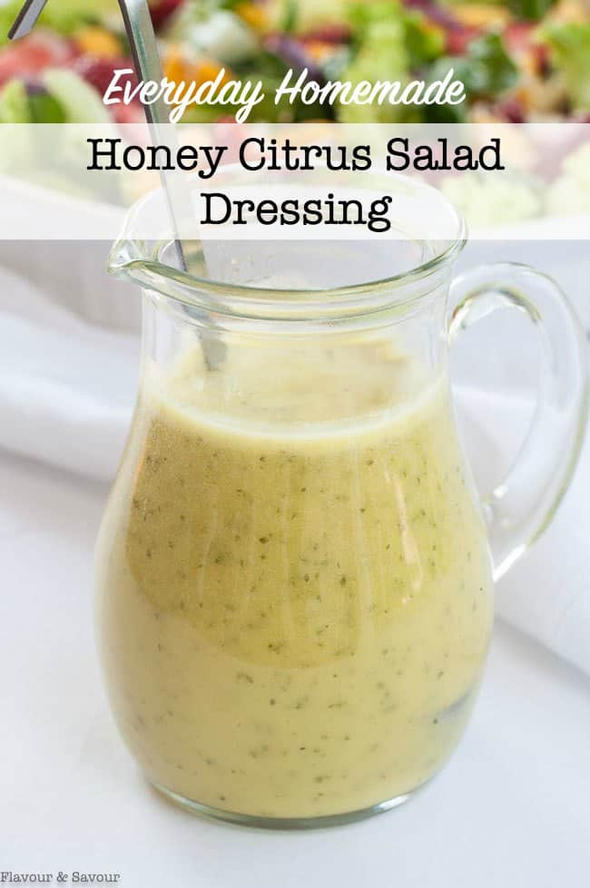 Homemade Honey Citrus Salad Dressing title