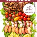 Chipotle Chicken Cobb Salad with text overlay