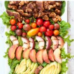 Chipotle Chicken Cobb Salad with Peaches pin for Pinterest