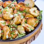 Crispy Grilled Potatoes with Blue Cheese