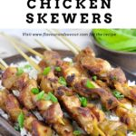 PInterest pin for Easy Thai Chicken Skewers