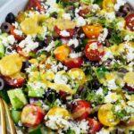 Mediterranean Quinoa Salad overhead view