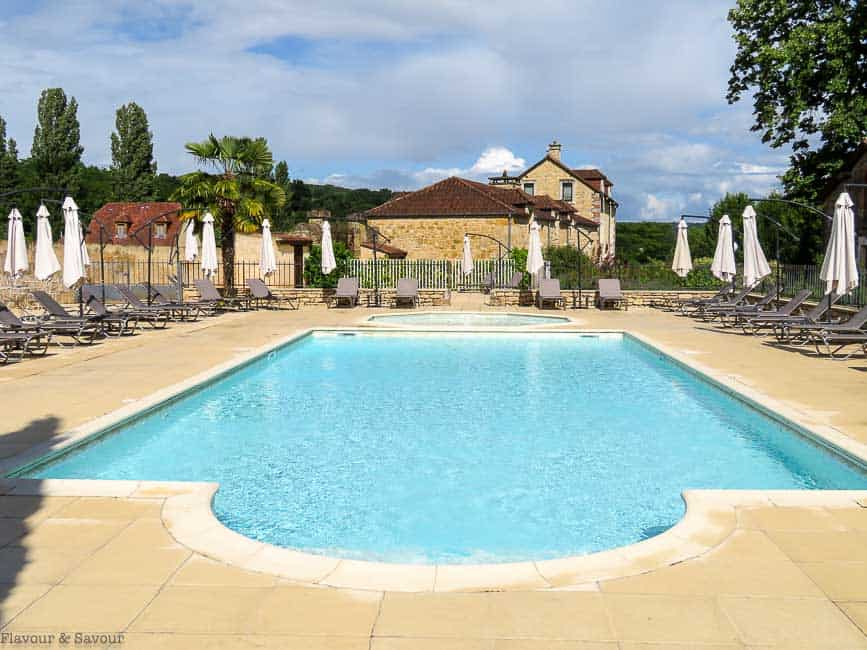 Second pool at Chateau du Monrecour