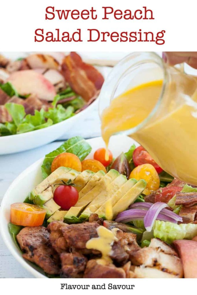 PInterest PIn for Sweet Peach Salad Dressing