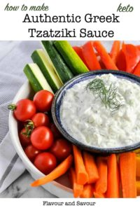 Pinterest Pin for Authentic Greek Tzatziki Sauce