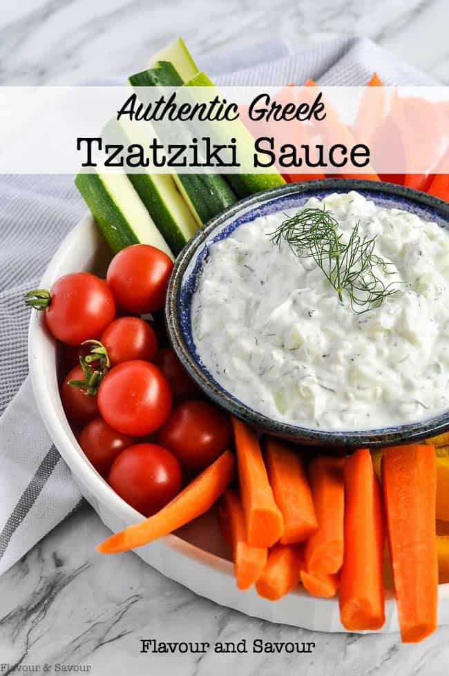 Authentic Greek Tzatziki Sauce title