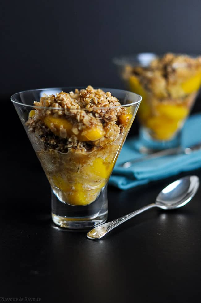 Gluten-Free Peach Crisp with Bourbon