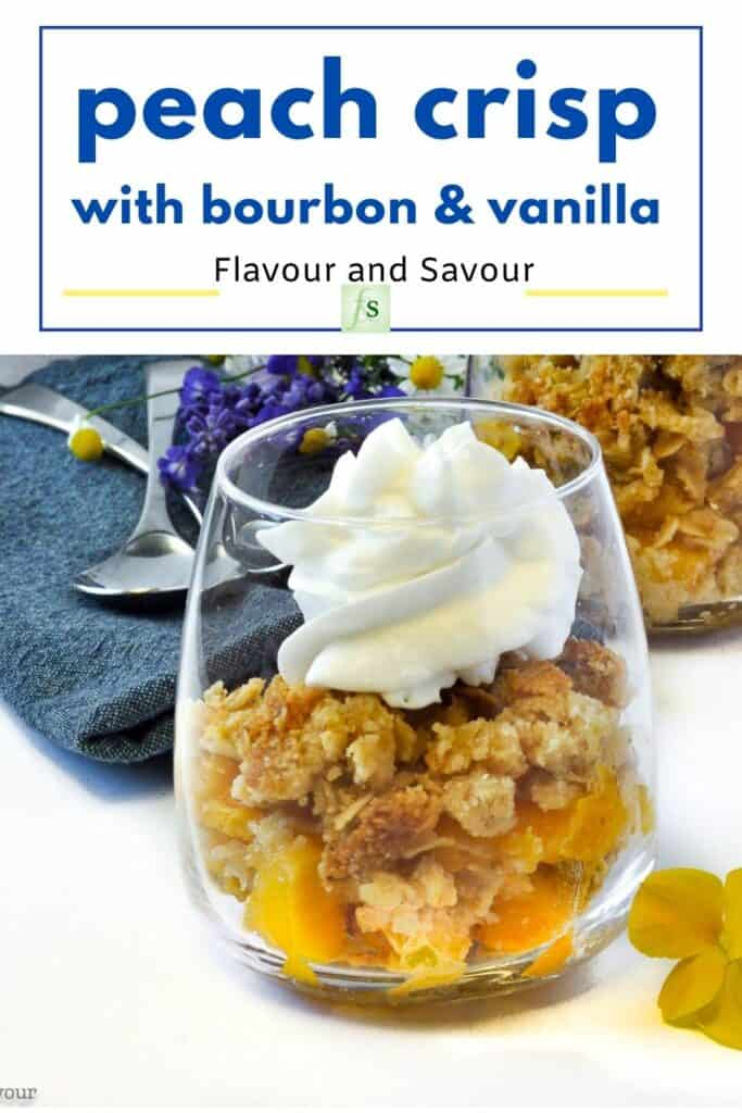 Image and text for Peach Crisp with Bourbon and Vanilla