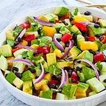 Tomato Avocado Black Bean Salad with Cilantro Lime Dressing