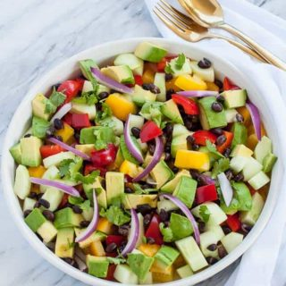 Tomato Avocado Black Bean Salad