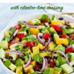 Pin for Tomato Avocado Salad with Cilantro Lime Dressing