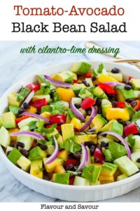 Pin for Tomato Avocado Salad with Cilantro Lime Dressing