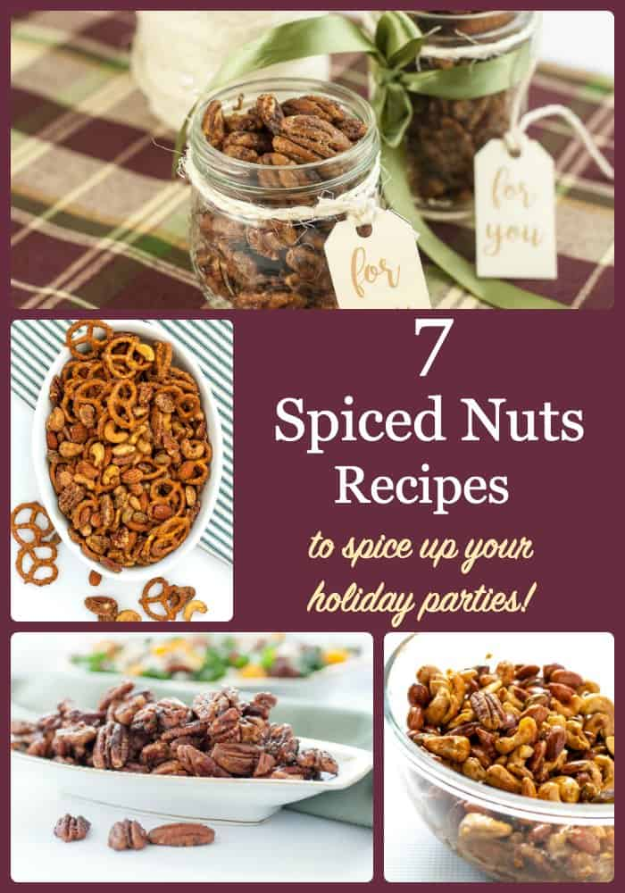 pinterest pin for 7 Spiced Nuts Reicpes