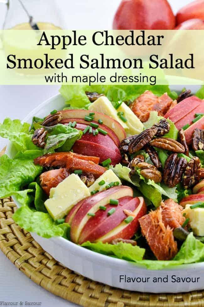 Title image for Apple Cheddar Smoked Salmon Salad