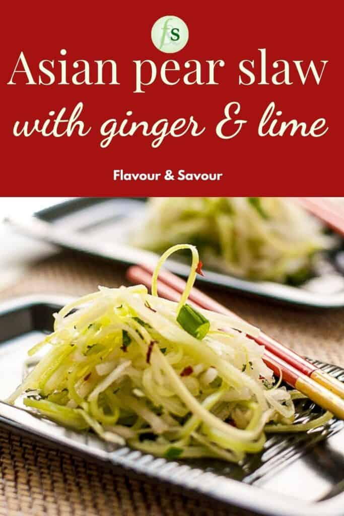 Image with text for Asian Pear Slaw