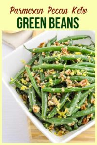 Pinterest Pin for Skillet Parmesan Pecan Green Beans