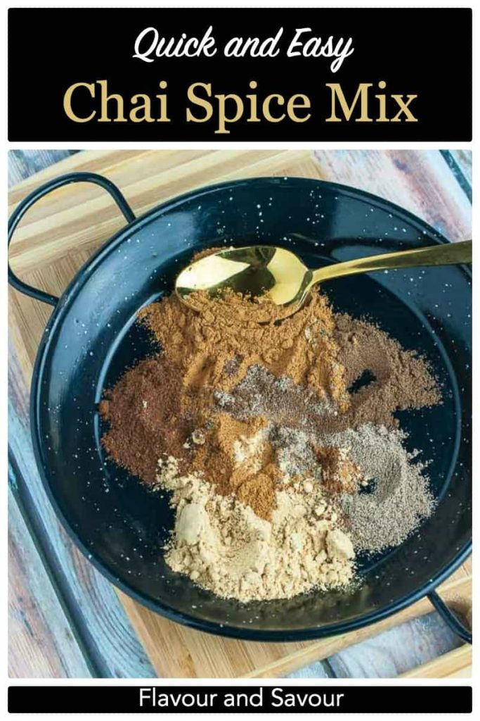 PInterest Pin for Quick and Easy Chai Spice Mix