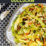 Pinterest Pin for Thai-Style Coleslaw with Kohlrabi