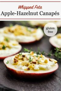 PInterest PIn for Whipped Feta Apple Hazelnut Canapés