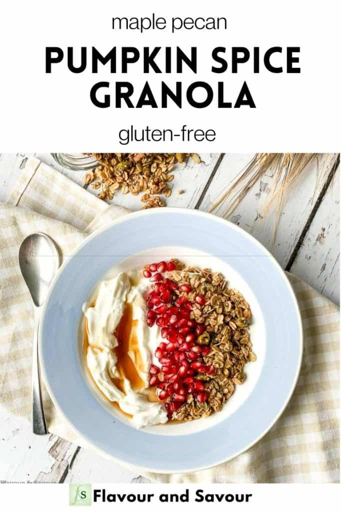 Text and image for Maple Nut Pumpkin Spice Granola