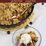 Pinterest Pin for Gluten-free Skillet Cranberry Apple Crisp