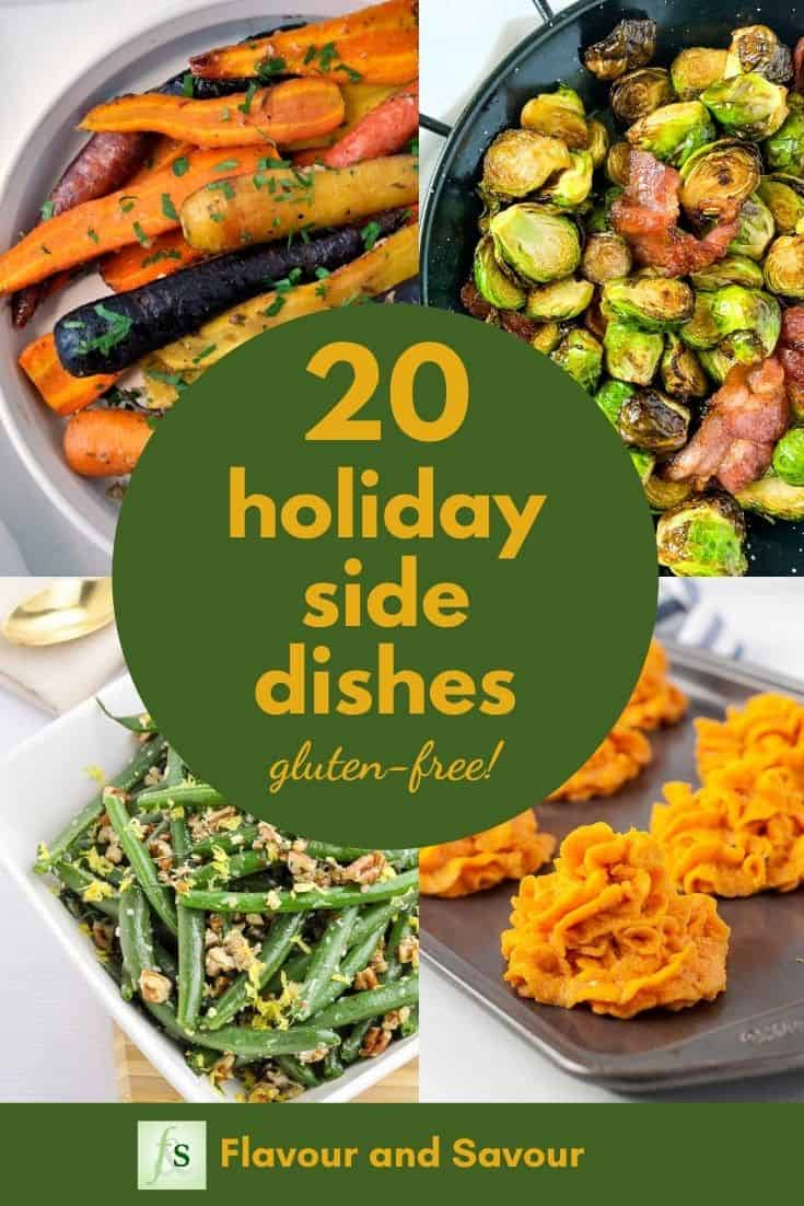 Image and text for 20 holiday side dishes