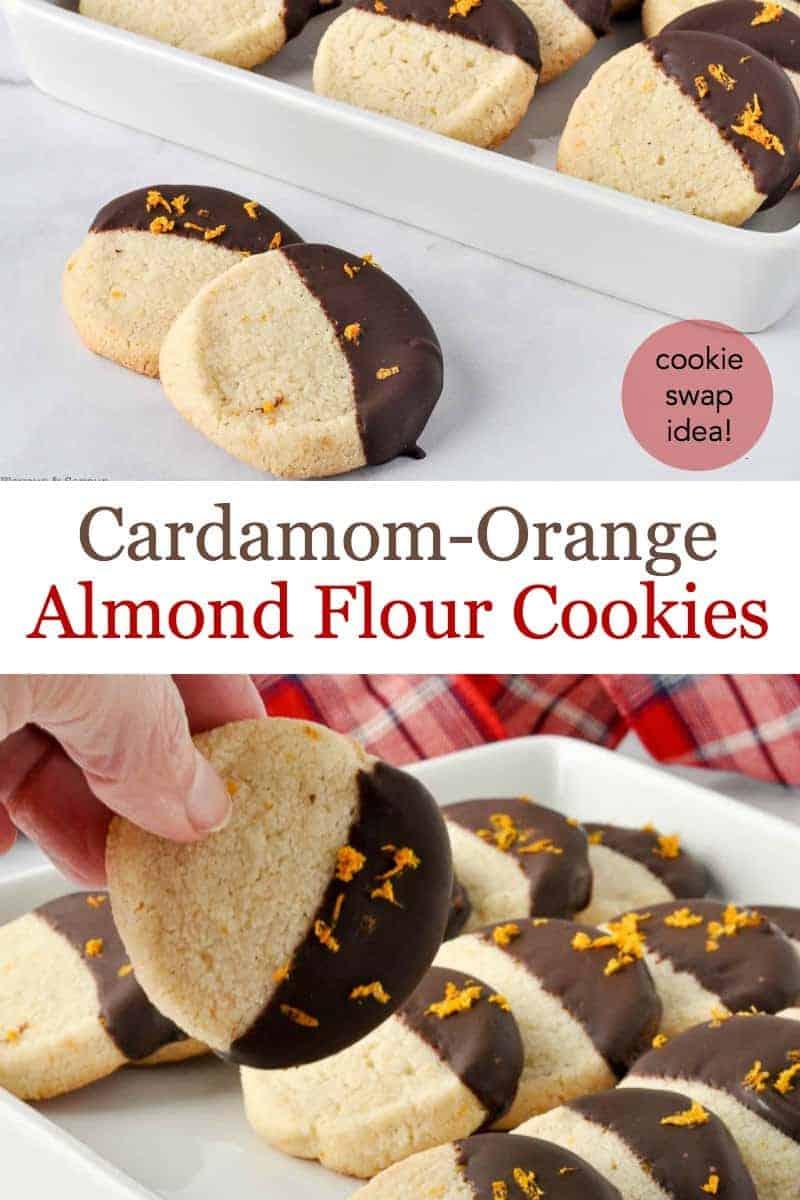Pinterest Pin Cardamom Orange Almond Flour Cookies