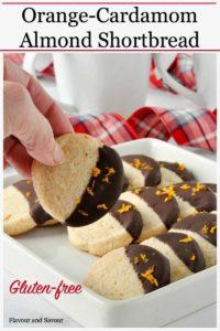 Pinterest Pin 1 for Orange Cardamom Almond Shortbread Cookies