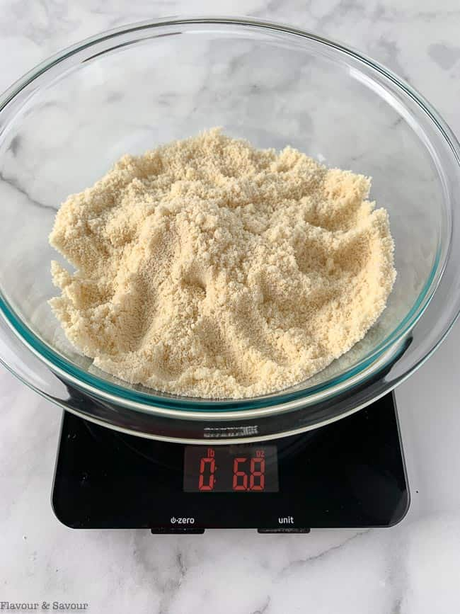 2 cups of almond flour weigh 6.8 oz