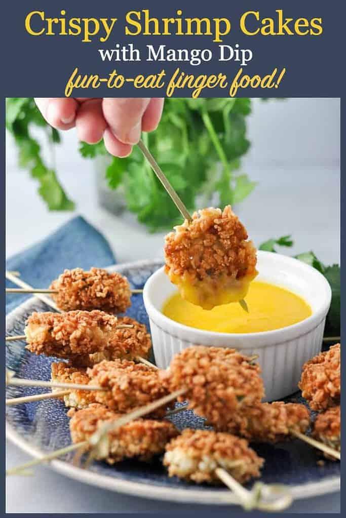 Pinterest Pin for Thai Shrimp Cakes