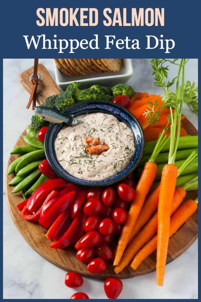 Pinterest pin for Smoked Salmon Feta Dip