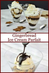 PInterest PIn for Gingerbread Ice Cream Parfait