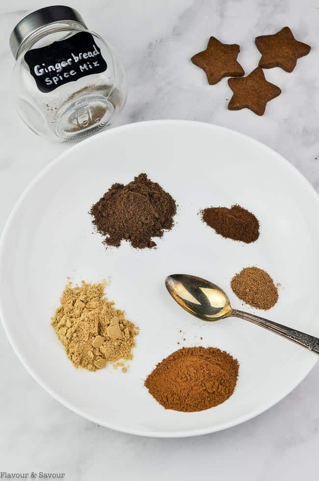 Ingredients for Gingerbread Spice Mix