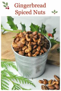 PInterest PIn for Gingerbread Spiced Nuts
