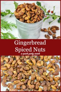 Pin for Gingerbread Spiced Nuts