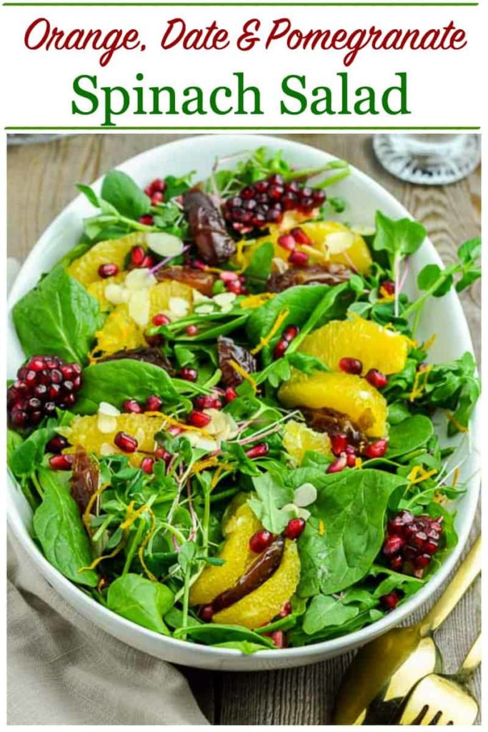 Pin for Orange Date Spinach Salad
