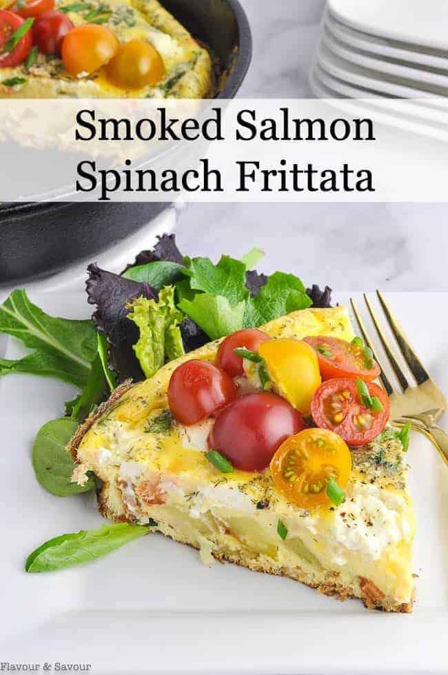 Smoked Salmon Frittata title