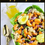 Pin for Sweet Potato Salad with Quinoa and Oranges