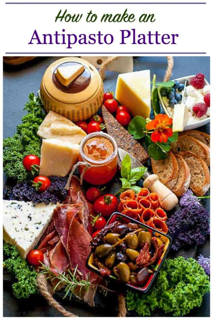 PInterest PIn for How to Make an Antipasto Platter