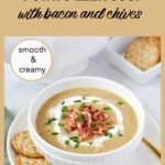 Pinterest Pin Instant Pot Potato Leek Soup with Bacon and Chives
