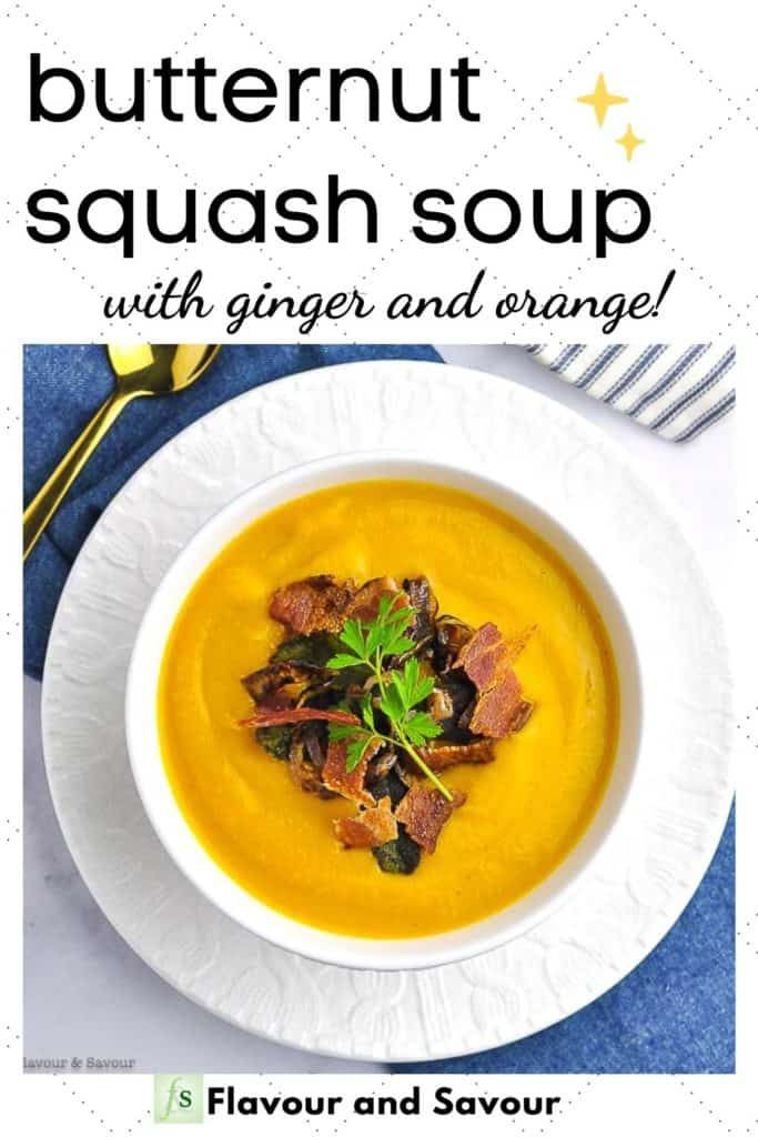 Image and text for Butternut Squash Soup with Ginger and Orange